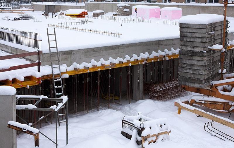 зимние строительные работы